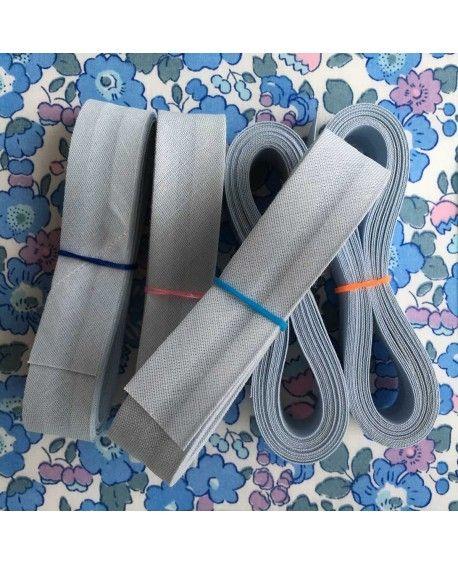 Skråbånd pastel lyseblå - 3 meter