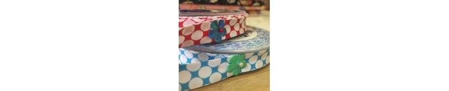Skråbånd · Kvalitets skråbånd i basis farver, striber og neon farver